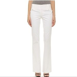 Alice + Olivia white bootcut pants